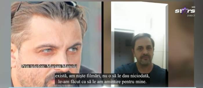 Captură cu Marian Manole și Petru Mircea din emisiune