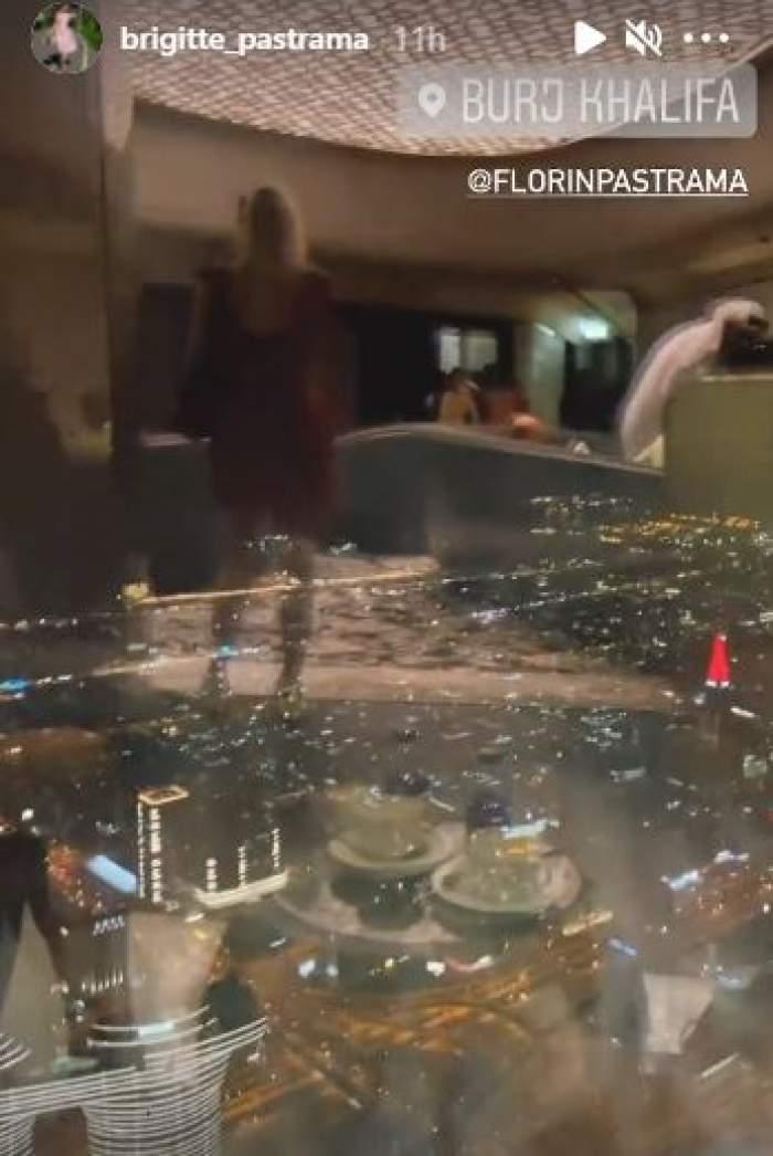 Brigitte și Florin Pastramă, vacanță de lux în Dubai. Cei doi soți au împărtășit imagini inedite cu fanii lor de la cel mai înalt etaj al unei clădiri / FOTO