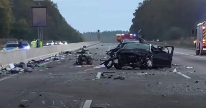 Mașină implicată în accidentul din Hessen