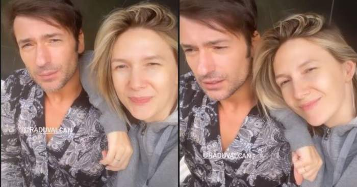 Radu Vâlcan și Adela Popescu acasă