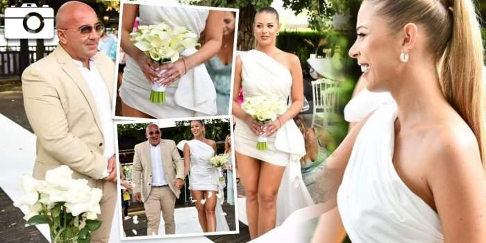 Roxana Nemeș și Călin Hagina la nunta lor