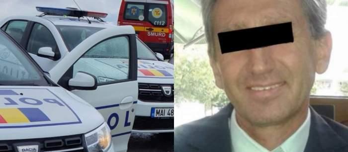 colaj mașina de poliție șisuspectul în cazul crimei din Sinaia
