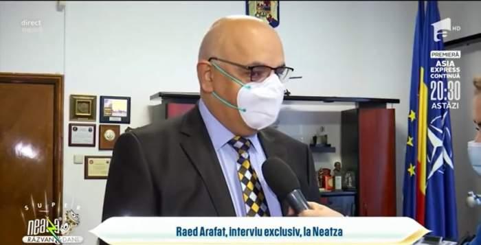 """Raed Arafat, declarații despre evoluția pandemiei. ,,Situația este una îngijorătoare"""" / VIDEO"""
