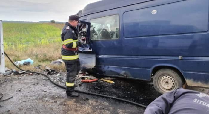 Accident grav în Ialomița! Patru persoane au murit, iar alte două  sunt în stare gravă, în urma unui impact violent, în această dimineață