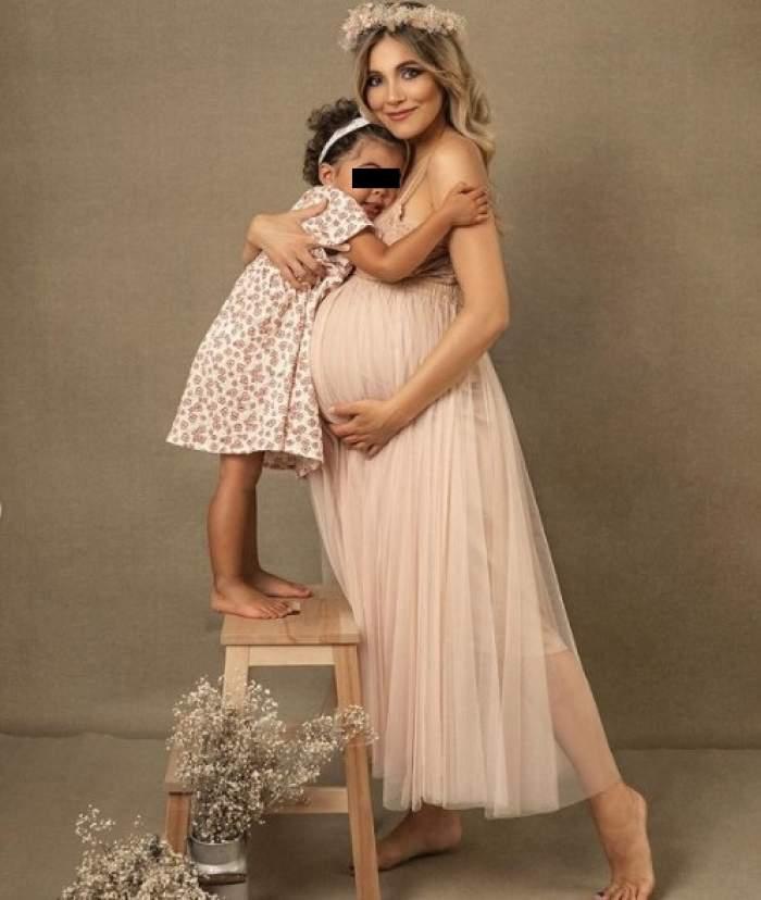 """Andreea Ibacka, imagini de colecție cu burtica de gravidă și fetița ei Namiko: """"Pozele mele preferate din toate timpurile"""" / FOTO"""