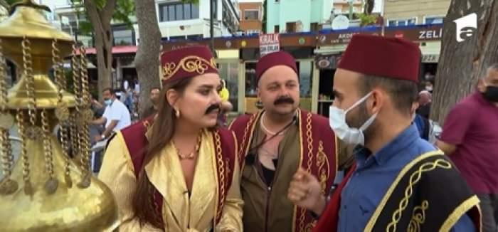 """Cum arată Lorelei Bratu cu mustață și în costum tradițional otoman, la Asia Express: """"Mă și gândeam să o cer de soț"""" / VIDEO"""
