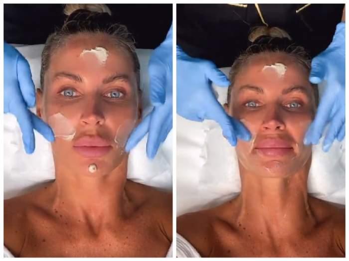 Andreea Bănică, la salonul de înfrumusețare