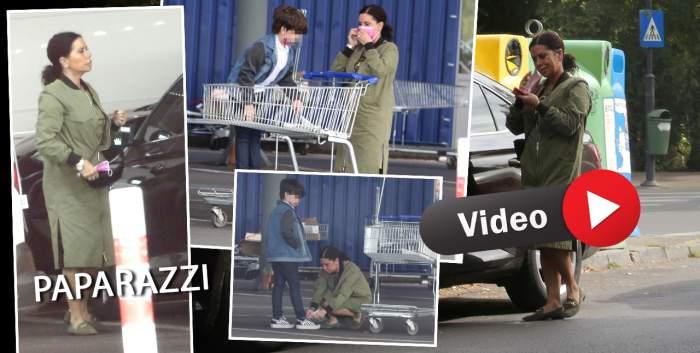 Luminița Anghel are ajutor de nădejde la cumpărături. Artista și fiul ei cel mic, surprinși în ipostaze rare / PAPARAZZI