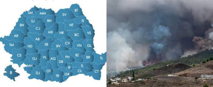 Norul toxic de cenușă vulcanică a intrat în România. Ministrul Mediului a pregătit deja mesajul RO-ALERT, după ce fenomenul a fost văzut pe cer