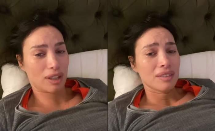 Alina Pușcău în pat