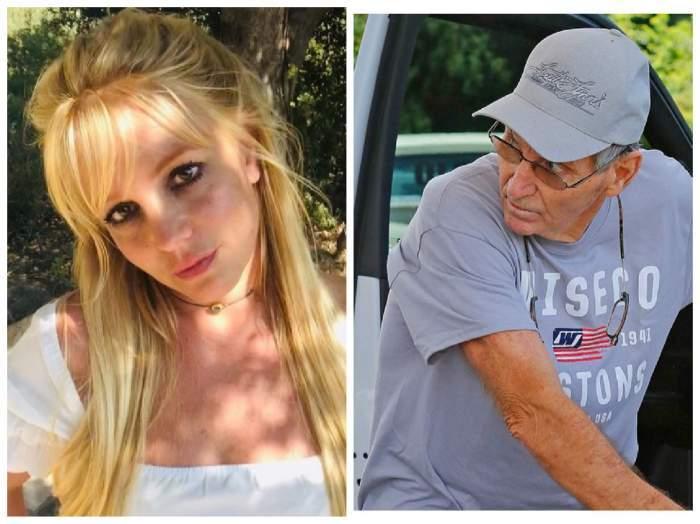 Colaj foto cu Britney Săears și tatăl ei