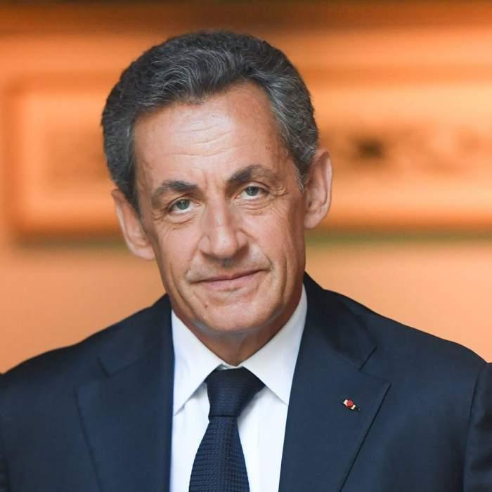 Nicolas Sarkozy, la o conferință