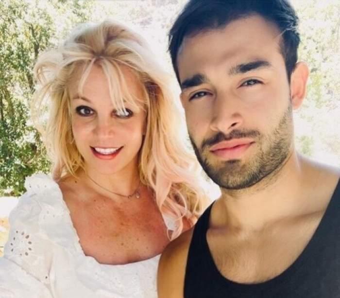 Britney Spears alături de Sam Asghari