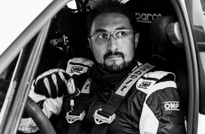 Adrian Răspopa, în mașina de curse