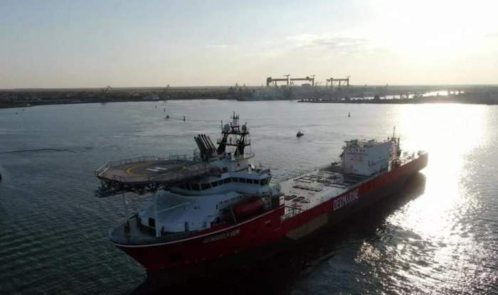 Cel mai modern vas din lume pentru recuperarea de diamante marine, construit la Mangalia. Prețul navei-gigant a fost peste 400 de milioane de dolari