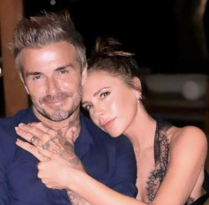 David Beckham, îmbrățișat de Victoria Beckham