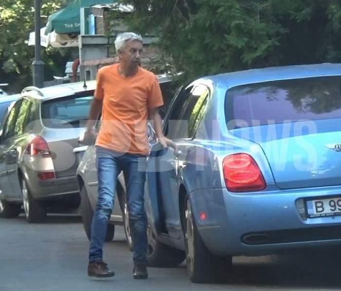 Dan Diaconescu iese din mașină