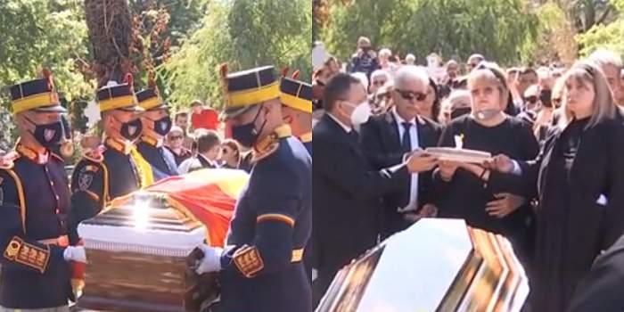 Ivan Patzaichin a fost înmormântat la cimitirul Bellu! Imagini sfâșietoare cu soția și fiica fostului sportiv / VIDEO