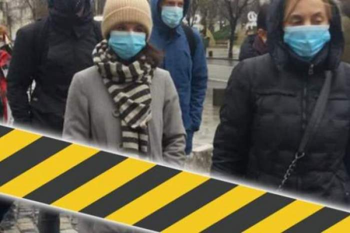 Mai multți oameni cu masca pe față