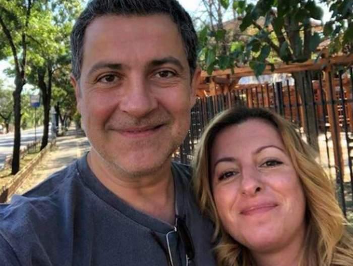 Mihai Călin și soția, zâmbitori împreună