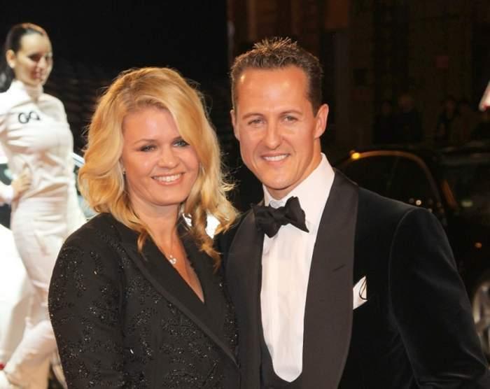 Corinna Schumacher și Michael Schumacher, la decernarea unor premii
