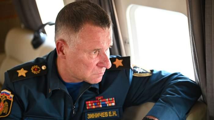 Yevgeny Zinichev într-o misiune