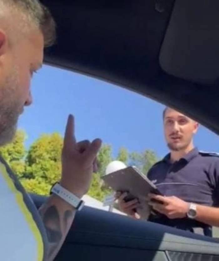 Un șofer a fost pus la punct de un poliţist, după ce a aruncat un chiştoc pe stradă. Clipul a devenit viral pe TikTok
