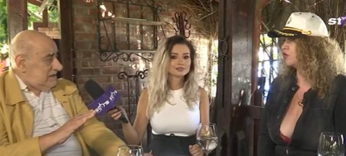 Viorel Lis și Oana Lis la un restaurant
